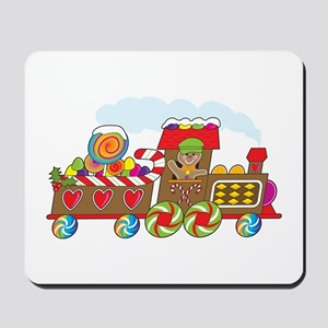 Gingerbread Train Mousepad