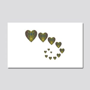 PEACOCK KALEIDOSCOPE HEART TRAILS Car Magnet 20 x