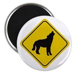 Wolf Crossing Sign Magnet