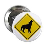 Wolf Crossing Sign Button