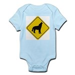 Wolf Crossing Sign Infant Creeper