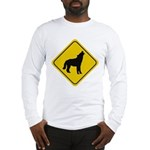Wolf Crossing Sign Long Sleeve T-Shirt
