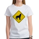 Wolf Crossing Sign Women's T-Shirt