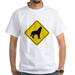 Wolf Crossing Sign White T-Shirt