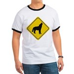Wolf Crossing Sign Ringer T