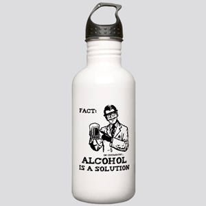 Alcohol is a Solution Stainless Water Bottle 1.0L
