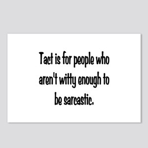 Tact Sarcasm Postcards (Package of 8)