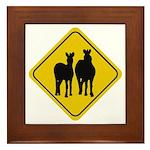 Zebra Crossing Sign Framed Tile