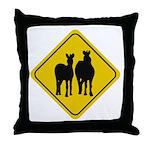 Zebra Crossing Sign Throw Pillow