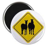 Zebra Crossing Sign Magnet