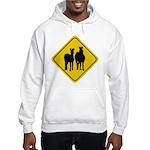 Zebra Crossing Sign Hooded Sweatshirt