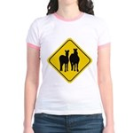 Zebra Crossing Sign Jr. Ringer T-Shirt