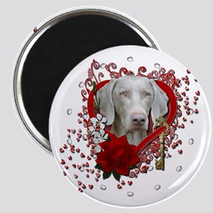 Valentines - Key to My Heart Weimie Magnet
