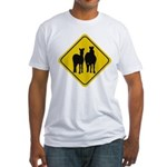 Zebra Crossing Sign Fitted T-Shirt