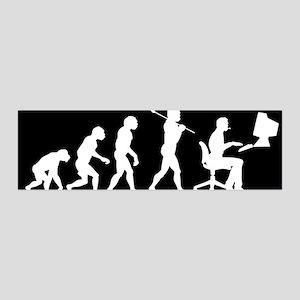 Office Worker Evolution 42x14 Wall Peel