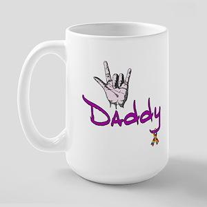 I love U Daddy - Autism Large Mug