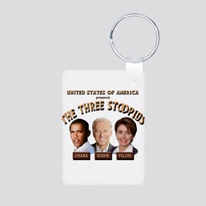 The Three Stoopids Aluminum Photo Keychain