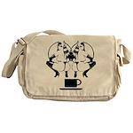 2 girls 1 cup Messenger Bag