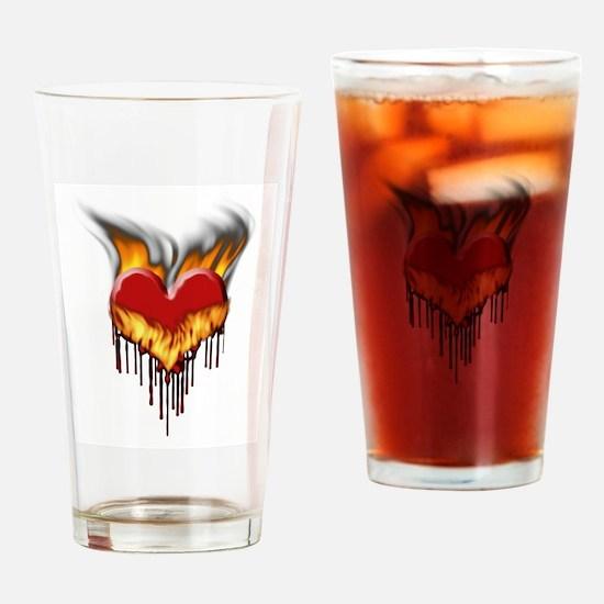 Melting Heart Drinking Glass