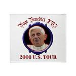 Pope Benedict XVI 2008 US Tou Throw Blanket