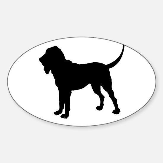 Bloodhound Silhouette Sticker (Oval)