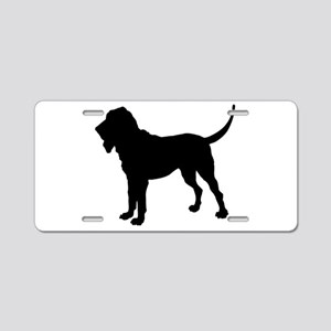 Bloodhound Silhouette Aluminum License Plate