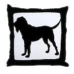 Bloodhound Silhouette Throw Pillow