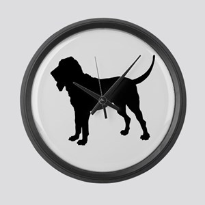 Bloodhound Silhouette Large Wall Clock