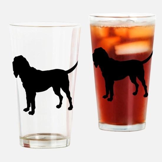Bloodhound Silhouette Drinking Glass