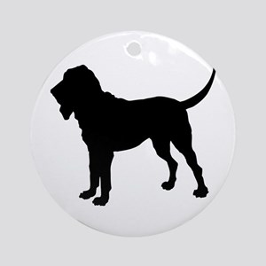 Bloodhound Silhouette Ornament (Round)