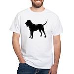 Bloodhound Silhouette White T-Shirt
