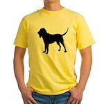 Bloodhound Silhouette Yellow T-Shirt