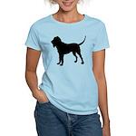 Bloodhound Silhouette Women's Light T-Shirt