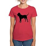 Bloodhound Silhouette Women's Dark T-Shirt