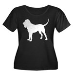 Bloodhound Silhouette Women's Plus Size Scoop Neck