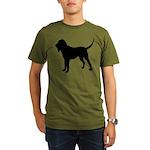 Bloodhound Silhouette Organic Men's T-Shirt (dark)