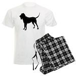 Bloodhound Silhouette Men's Light Pajamas