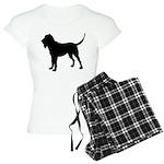 Bloodhound Silhouette Women's Light Pajamas