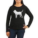 Bloodhound Silhouette Women's Long Sleeve Dark T-S