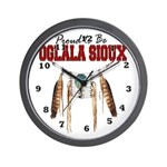 Proud to be Oglala Sioux Wall Clock