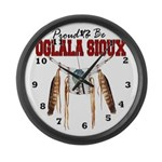 Proud to be Oglala Sioux Large Wall Clock