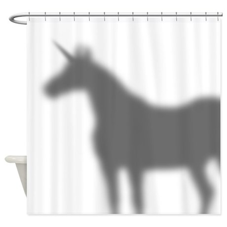 Unicorn In The Shower Curtain