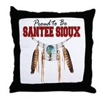 Proud to be Santee Sioux Throw Pillow