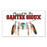 Proud to be Santee Sioux Sticker (Rectangle)