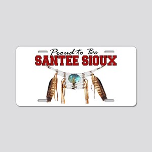 Proud to be Santee Sioux Aluminum License Plate
