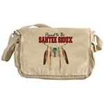 Proud to be Santee Sioux Messenger Bag
