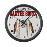 Proud to be Santee Sioux Large Wall Clock