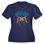 Proud to be Santee Sioux Women's Plus Size V-Neck
