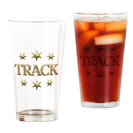 Track Stars Drinking Glass