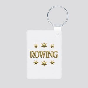 Rowing Stars Aluminum Photo Keychain